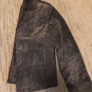 Chico's Leather Jacket Brown Size 0
